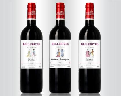 Des étiquettes aquarelles pour une nouvelle gamme de Bordeaux