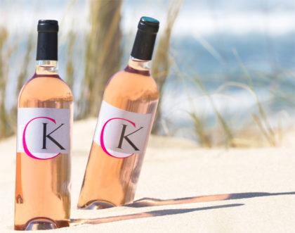 Déclinaison de packaging pour un vin rosé
