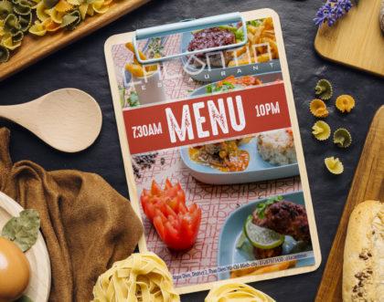 Conception graphique d'un Menu pour un restaurant