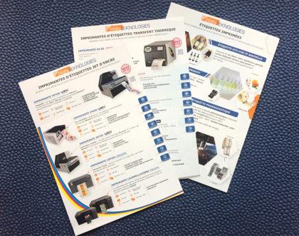 Création de flyer commercial pour Printeknologies